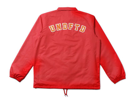 UNDEFEATED Street Style Collaboration Plain Coach Jackets Logo