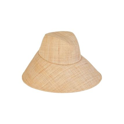 lack of color Unisex Street Style Bucket Hats Straw Hats