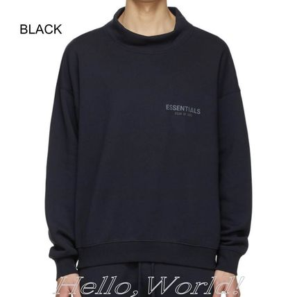 FEAR OF GOD ESSENTIALS Pullovers Unisex Sweat Blended Fabrics Street Style