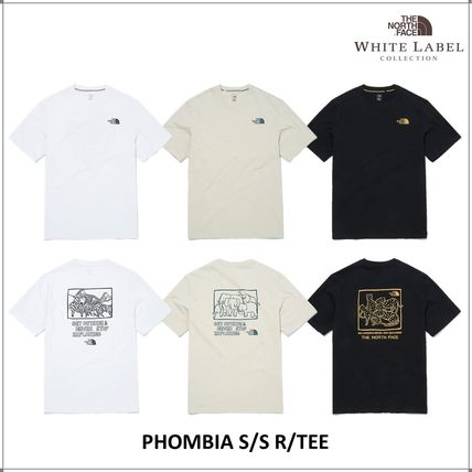THE NORTH FACE WHITE LABEL Unisex Short Sleeves Outdoor T-Shirts