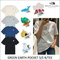 THE NORTH FACE WHITE LABEL Unisex Short Sleeves Outdoor Graphic Prints T-Shirts