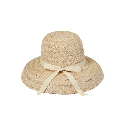 Unisex Straw Boaters Bucket Hats Keychains & Bag Charms