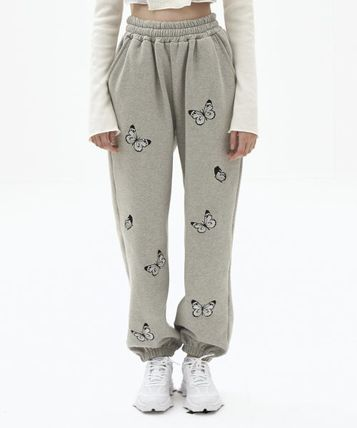 Casual Style Street Style Cotton Long Logo Pants