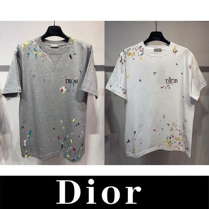Christian Dior More T-Shirts Pullovers Cotton Short Sleeves Logo Luxury T-Shirts