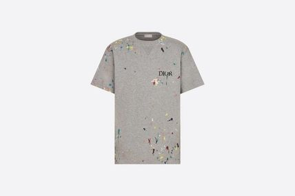 Christian Dior Pullovers Cotton Short Sleeves Logo Luxury T-Shirts