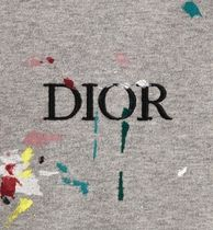 Christian Dior More T-Shirts Pullovers Cotton Short Sleeves Logo Luxury T-Shirts 4