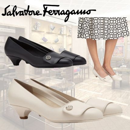 Salvatore Ferragamo Casual Style Plain Party Style Office Style Elegant Style