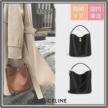 CELINE 16 Casual Style Leather Party Style Office Style Elegant Style