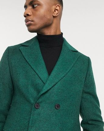Wool Street Style Plain Chester Coats