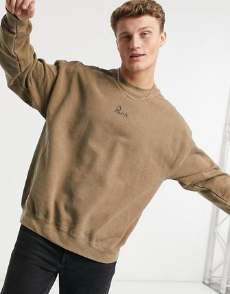 ASOS Sweatshirts Crew Neck Pullovers Sweat Street Style Long Sleeves Plain 2
