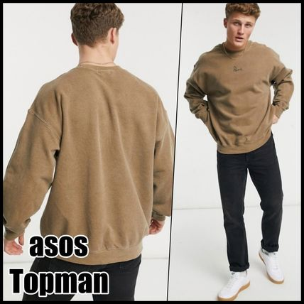 ASOS Sweatshirts Crew Neck Pullovers Sweat Street Style Long Sleeves Plain
