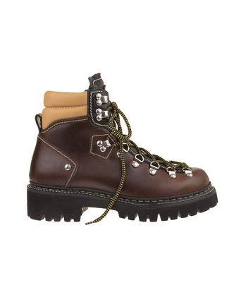 D SQUARED2 Mountain Boots Street Style Plain Leather Logo Outdoor Boots
