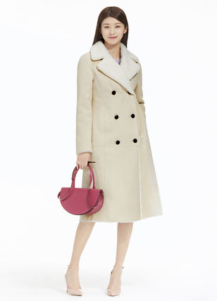 IT MICHAA Chester Wool Cashmere Tweed Studded Street Style Plain Chester Coats 3