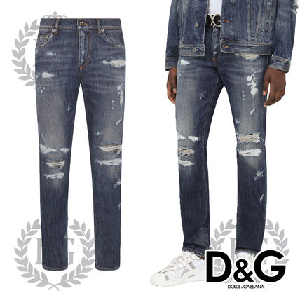 Dolce & Gabbana More Jeans Denim Street Style Plain Jeans