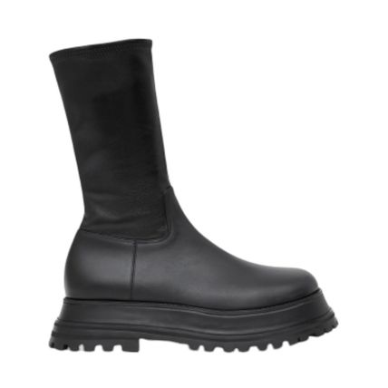 Burberry Mountain Boots Street Style Plain Leather Chelsea Boots