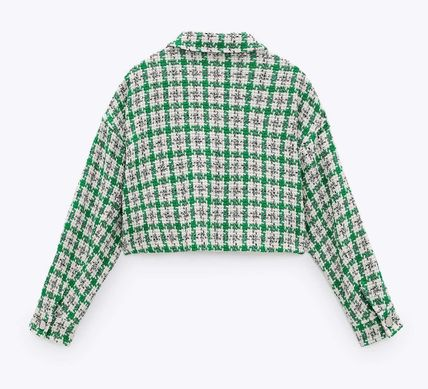 ZARA Other Plaid Patterns Casual Style Jackets