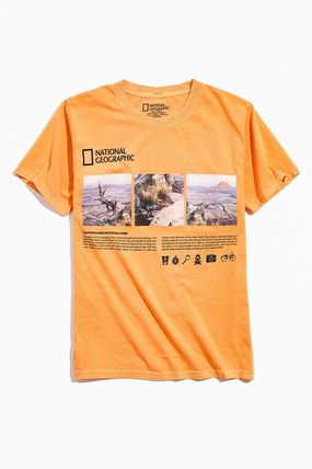 NATIONAL GEOGRAPHIC Long Sleeve Street Style Long Sleeves Long Sleeve T-shirt Logo
