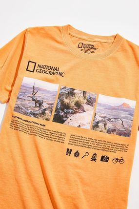 NATIONAL GEOGRAPHIC Long Sleeve Street Style Long Sleeves Long Sleeve T-shirt Logo 2