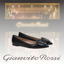 Gianvito Rossi Plain Leather Ballet Shoes