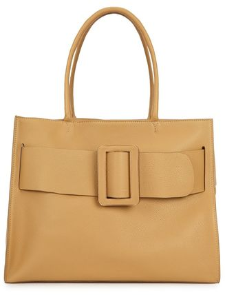 Casual Style A4 Plain Leather Elegant Style Satchels