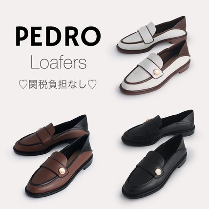 Pedro Round Toe Casual Style Plain Leather Party Style