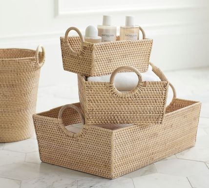 Collaboration Co-ord Rattan Furniture Make-up Organizer