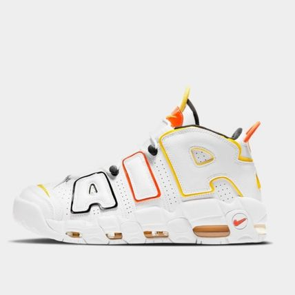Nike AIR MORE UPTEMPO Unisex Plain Sneakers