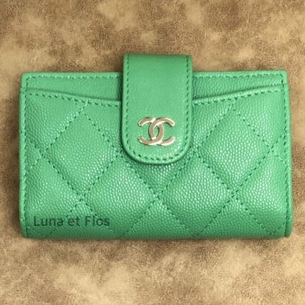 CHANEL MATELASSE Calfskin Small Wallet Coin Cases
