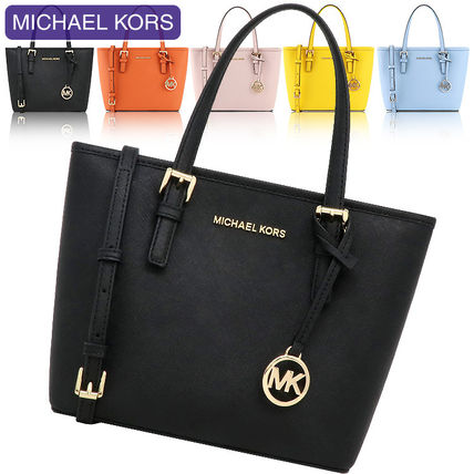 Michael Kors JET SET TRAVEL 2WAY Leather Crossbody Handbags