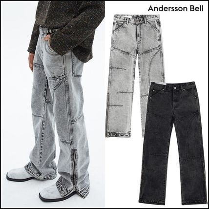 ANDERSSON BELL More Jeans Unisex Street Style Plain Oversized Jeans