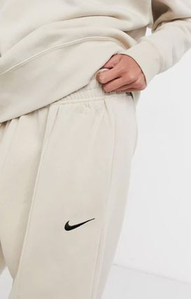 Nike Logo Icy Color Casual Style Sweat Plain Cotton Long