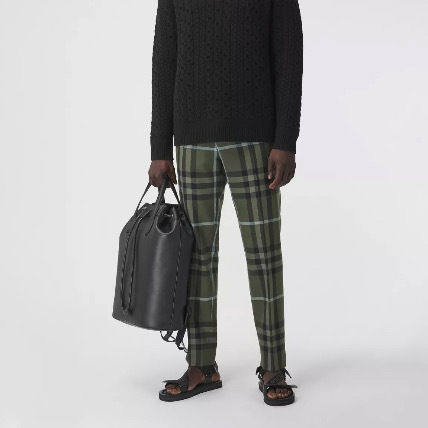Burberry Other Plaid Patterns Wool Cropped Pants