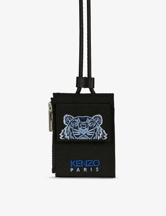 KENZO Nylon Street Style Other Animal Patterns Logo Card Holders