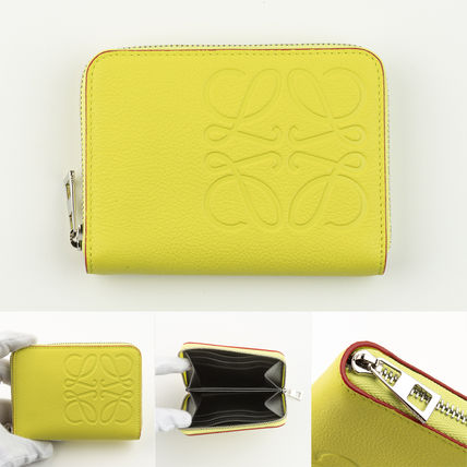 LOEWE Unisex Leather Logo Coin Cases