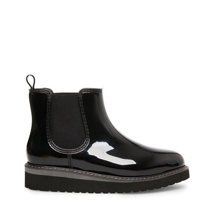 Steve Madden Rubber Sole Studded Street Style Leather Rain Boots Boots