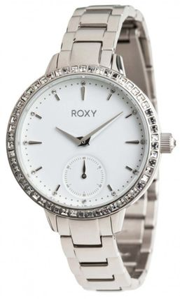ROXY Casual Style Round Stainless With Jewels Analog Watches