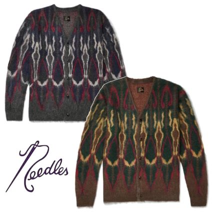 Needles Cardigans Unisex Wool Street Style Front Button Cardigans
