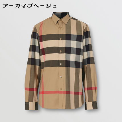 Burberry Shirts Tartan Street Style Long Sleeves Cotton Logo Luxury Shirts 2