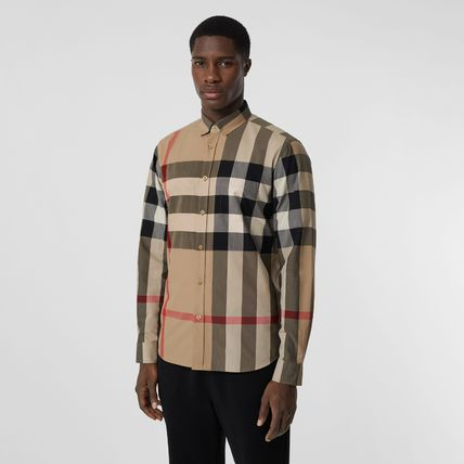 Burberry Shirts Tartan Street Style Long Sleeves Cotton Logo Luxury Shirts 3