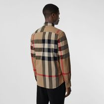 Burberry Shirts Tartan Street Style Long Sleeves Cotton Logo Luxury Shirts 4