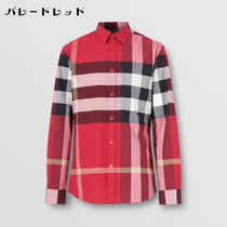 Burberry Shirts Tartan Street Style Long Sleeves Cotton Logo Luxury Shirts 10