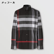 Burberry Shirts Tartan Street Style Long Sleeves Cotton Logo Luxury Shirts 12