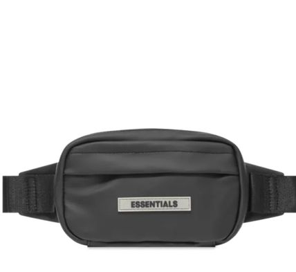FEAR OF GOD ESSENTIALS Unisex Street Style 2WAY Plain Crossbody Bag Logo Belt Bags