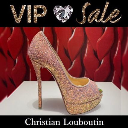 Christian Louboutin Casual Style Plain Leather Party Style Office Style
