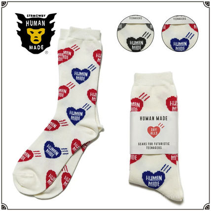 HUMAN MADE Heart Unisex Street Style Cotton Logo Undershirts & Socks