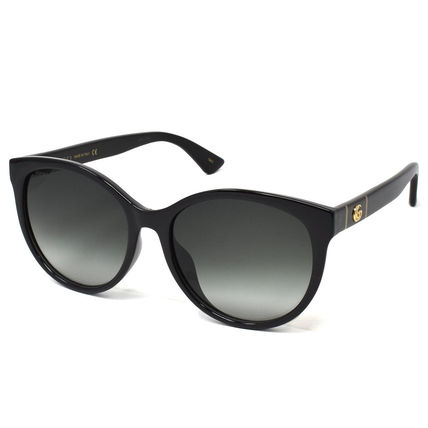 GUCCI Unisex Street Style Round Cat Eye Glasses Sunglasses