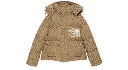 GUCCI Unisex Street Style Plain Down Jackets