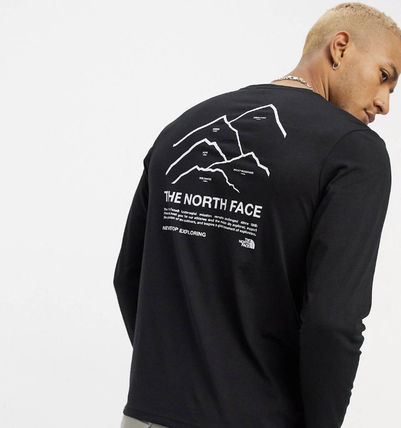 THE NORTH FACE Long Sleeve Crew Neck Pullovers Unisex Street Style Long Sleeves