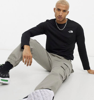 THE NORTH FACE Long Sleeve Crew Neck Pullovers Unisex Street Style Long Sleeves 3