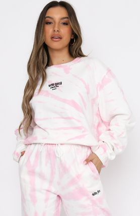 WHITE FOX Co-ord Icy Color Loungewear Unisex Sweat Tie-dye Cotton